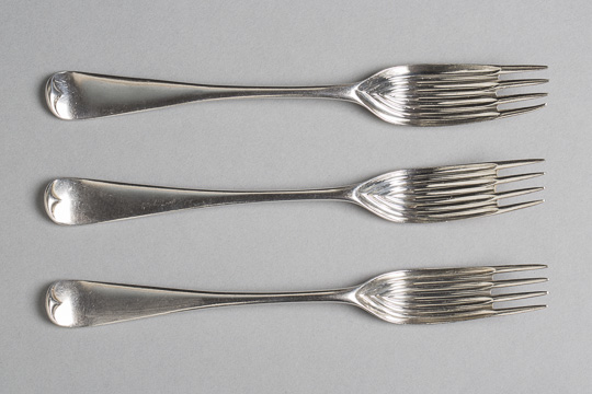 Elkington gravy forks designed in 1867